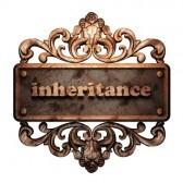 inheritance word-on-bronze-ornament