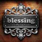 Blessing - silver-word-on-ornament