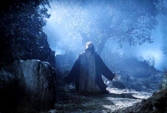 Jesus praying at the garden