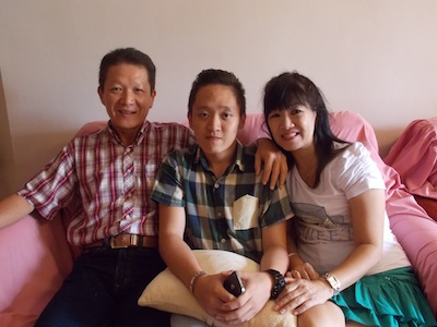 Johnnie with his family