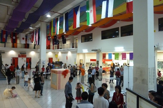 Hall outside the auditorium of PJEFC