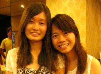 Carmen Soo with friend, Tiffany Choo