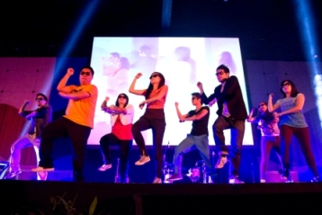Dancers go 'gangnam style' at the Acts Church Christmas Production