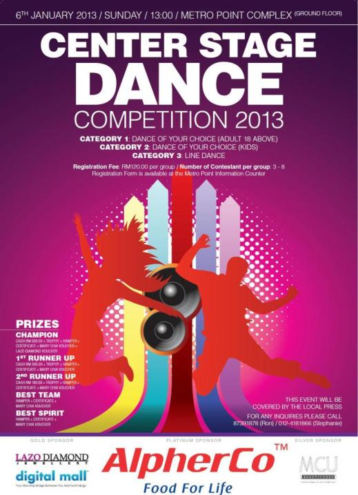 Dance Competition Poster Malaysias Most Comprehensive Christian