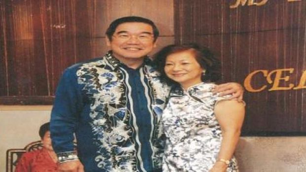Dr Chew with his wife