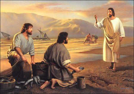 耶稣说:来跟从我,我要使你成为得人如得鱼的渔夫