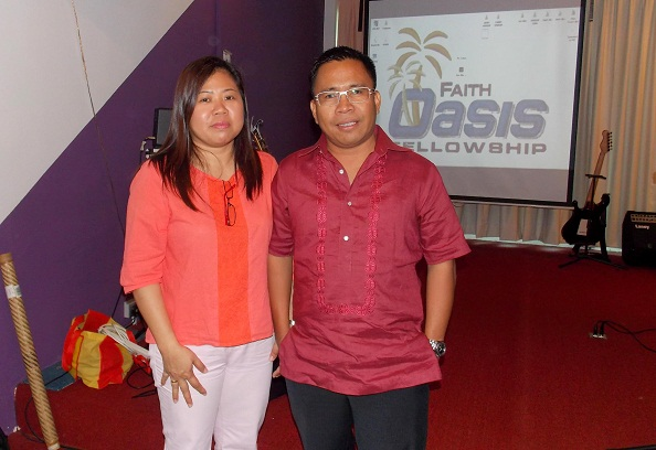 Pastor Cleo Carmona and his wife Pastor Cindy Yong