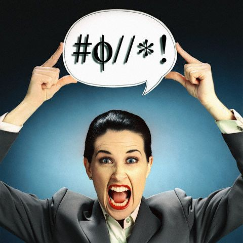 Angry Woman Using Profanity