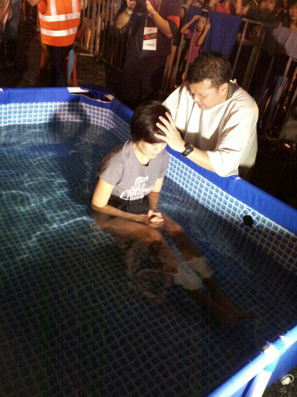 Baptism in the pool