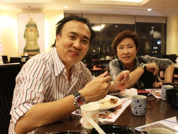 Dato Sri Michael having a nice meal with his wife