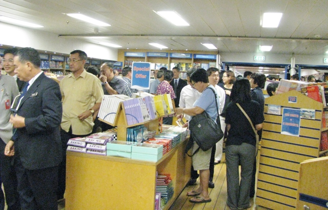 Largest floating book fair in the world, opened on Friday