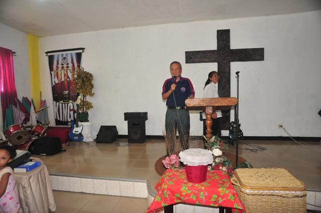 KCF President Yap Kok Sun speaking during Mission trip