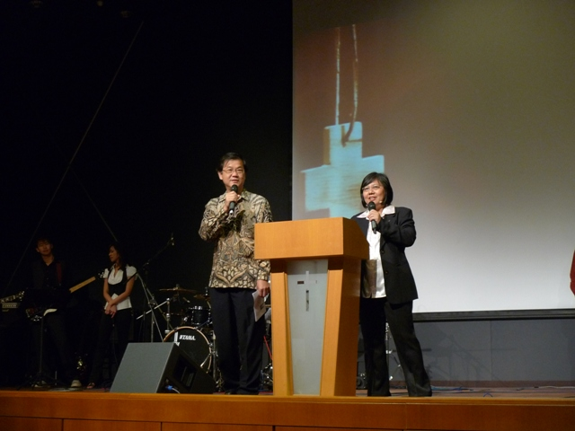 Ministering with hubby, Ps Francis Yip
