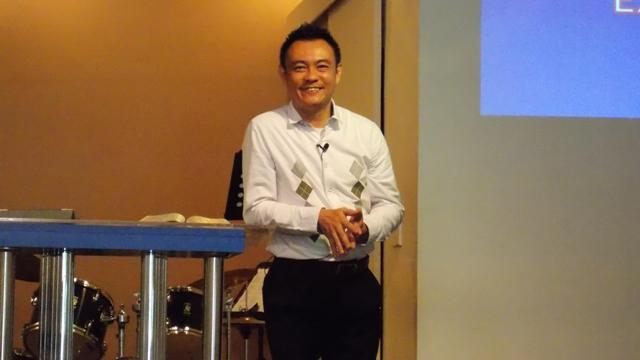 Pastor Alex Soh preaching on Parents Day
