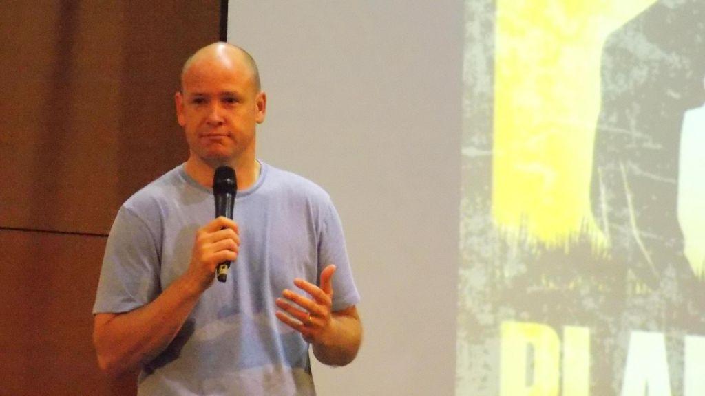 Pastor Jimmy Scroggins preaching at FBC