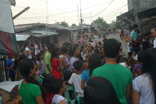Reaching in the streets of Las pinas, Manila
