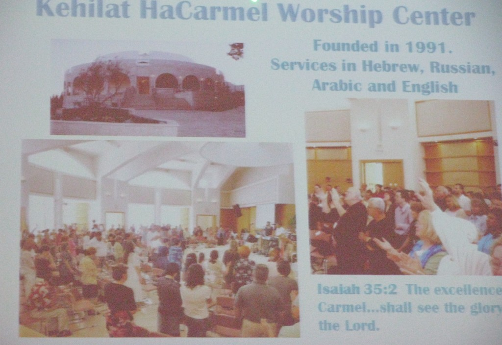 Activities at Mt Carmel School of Ministry, Haifa, Israel
