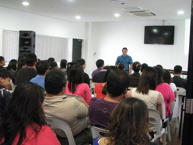 The workshop in session at Blessed Church, Kuching