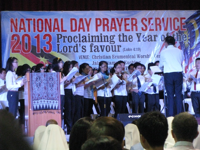 The National Day Prayer Service 2013 choir