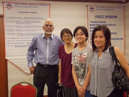 Rev Jai Kumar with some folks of FGCC