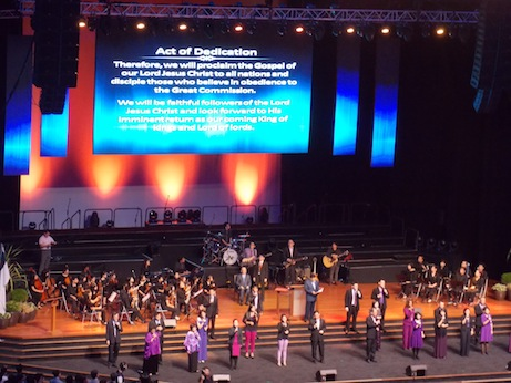 Worship team of the dedication ceremony