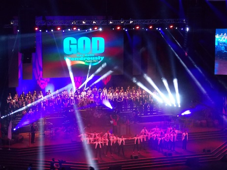 Performance by worship dancers and choir