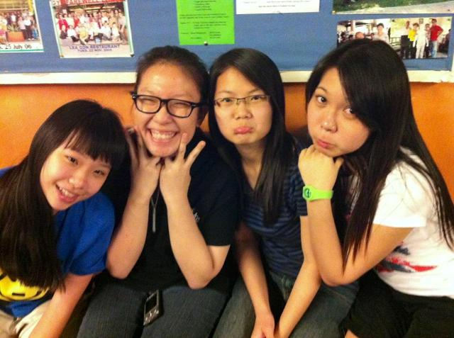 Ming Li (second from left) with some other youths from her youth group