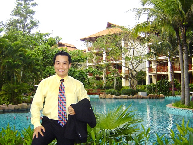 Tony at Furama Resort, Danang in 2005