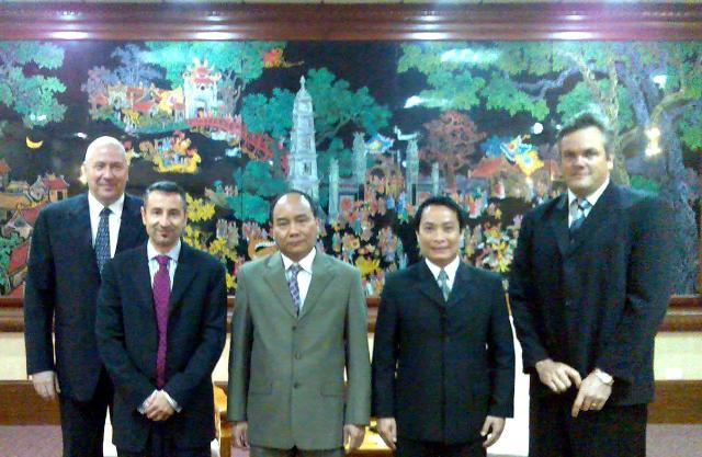 Tony in PM Office with International Investors in Hanoi, 2006