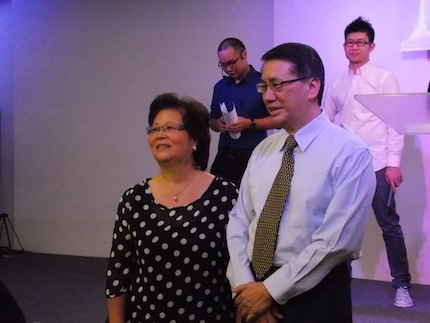 Chairman Elder Stephen Ong and Irin Ong of NLCC