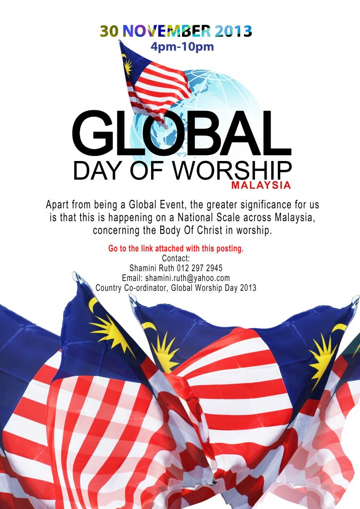 Global Day of Worship 2013 poster