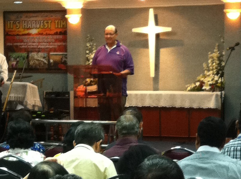 Dr Vernon Falls Addressing The Pastors