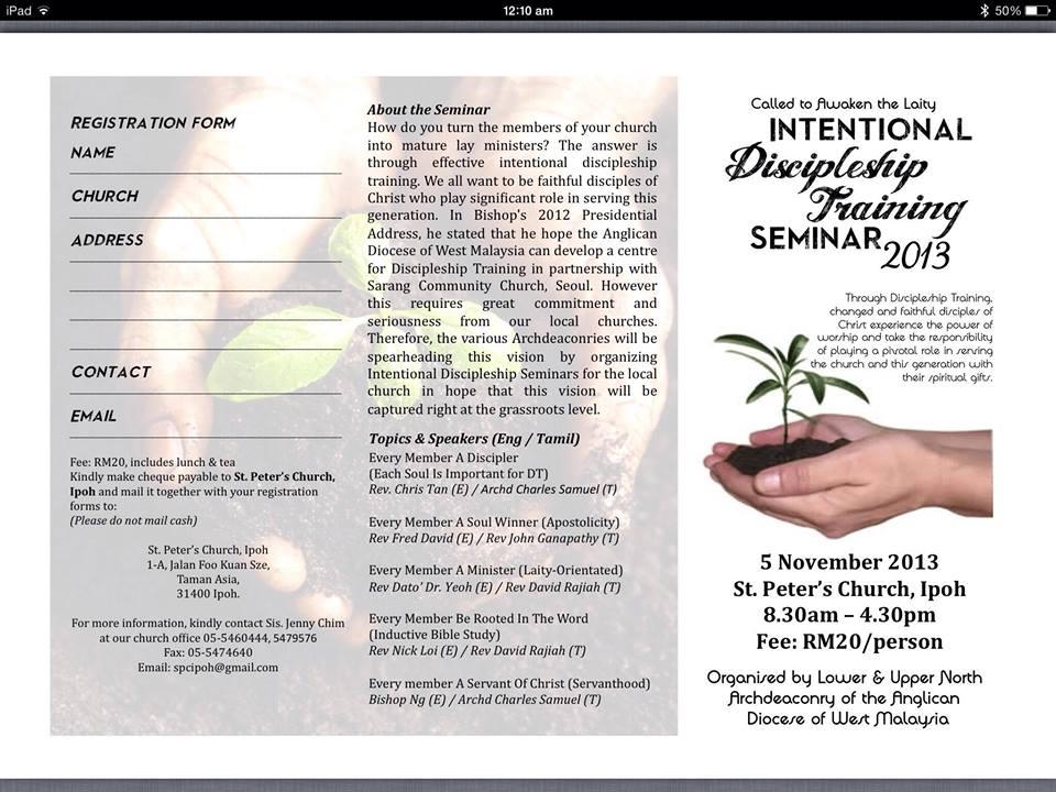 Intentional Discipleship seminar