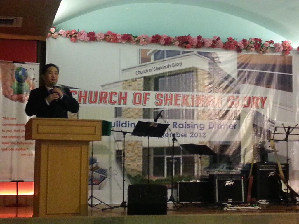 Rev Christopher Pak Delivering Exhortation