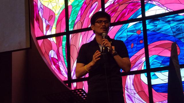 Victor Chua sharing at the end of the celebration