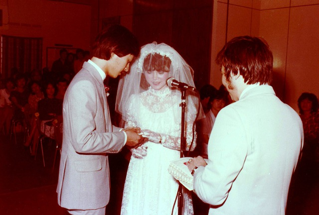 Pr Lawrence getting married, as the first wedding in church