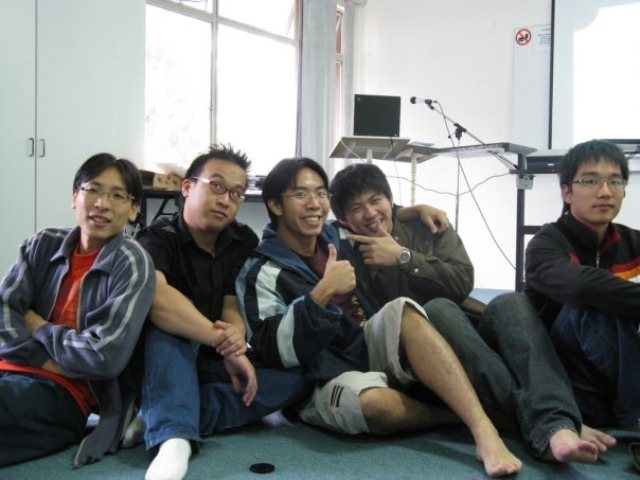 Jeremy Tan during his college days (third from left)