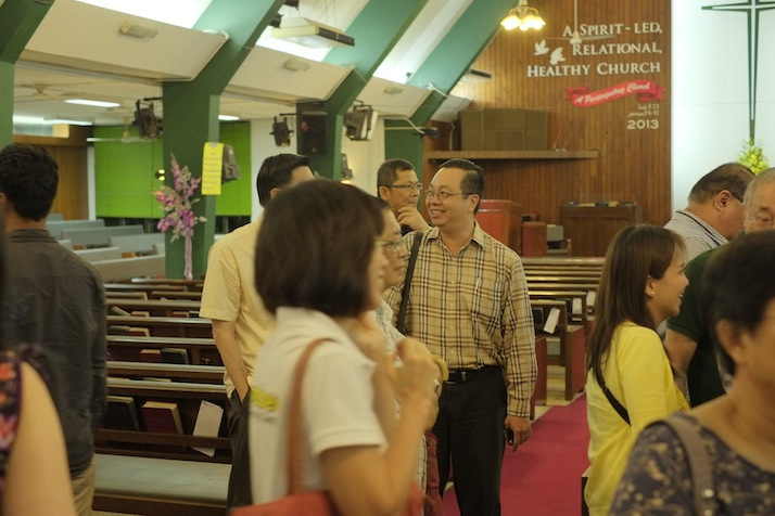 Dr David Wong (Nearest person facing the camera with glasses)
