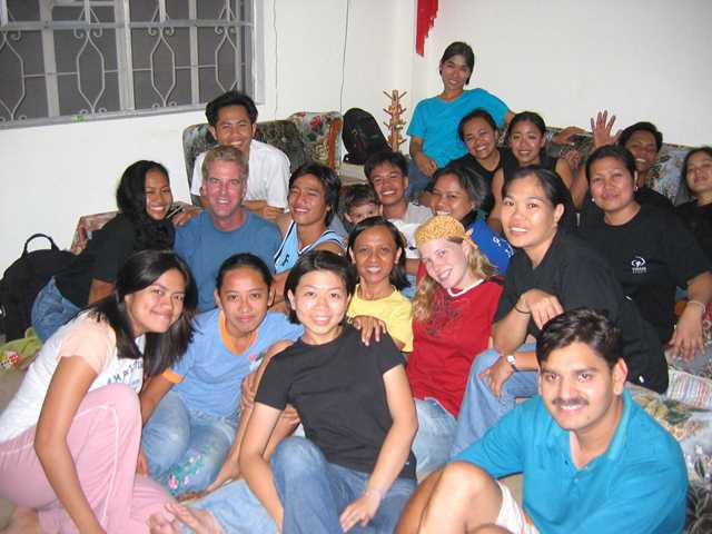Rachel (Front row, lady in black) during her DTS in the Philippines