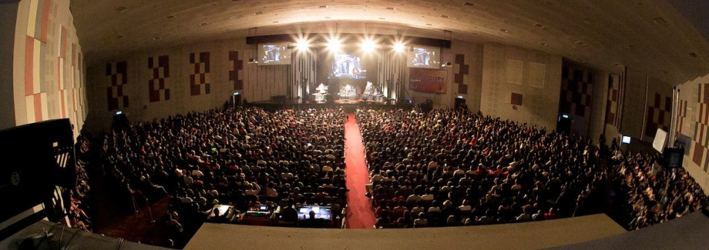 The packed GCC for Don Moen Concert