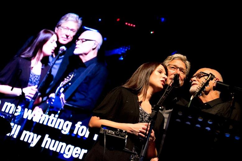 A cappella trio of Don Moen, Lenny LeBlanc and Rachel Robinson