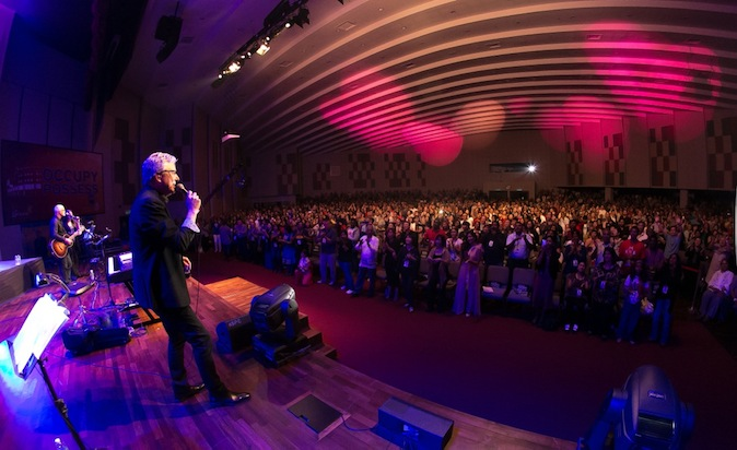 Don Moen touching the audience with his songs