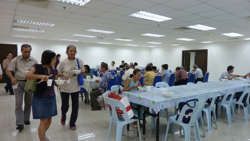 Lunch time together after TA One Chapter Fellowship