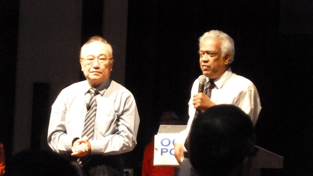 Datuk Paul Low being introduced by Sr Pr Rev Henry Pillai from GCC