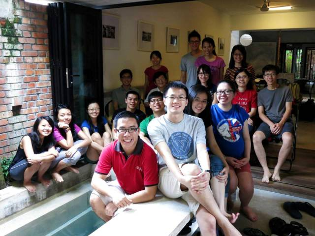 Jeremy Tan (in red shirt) in the YWA Retreat 2013