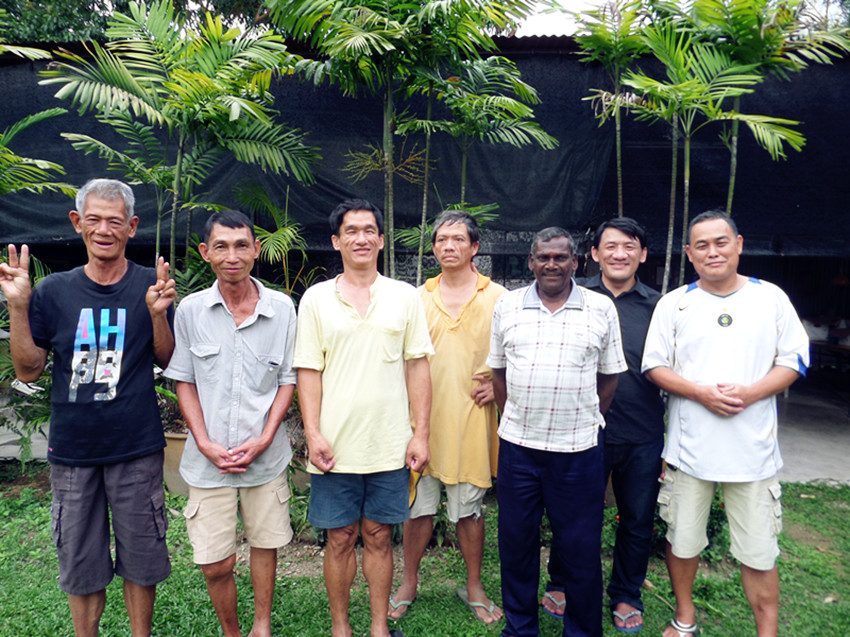 Residents of Crisis Home with Isaac Tan (Far right). All of them were former drug users but not everyone of them have HIV.