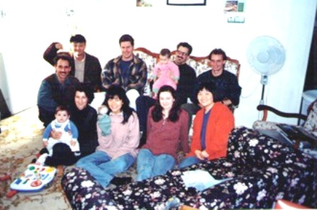 Pauline Pang (first row, second from left) with her Bible College prayer group in Australia
