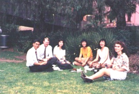 Pauline Pang (second from right) during her working days in Australia