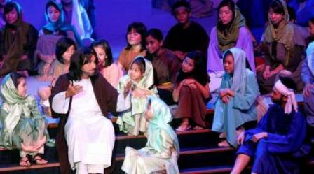 Easter production at Calvary Church in April 2013