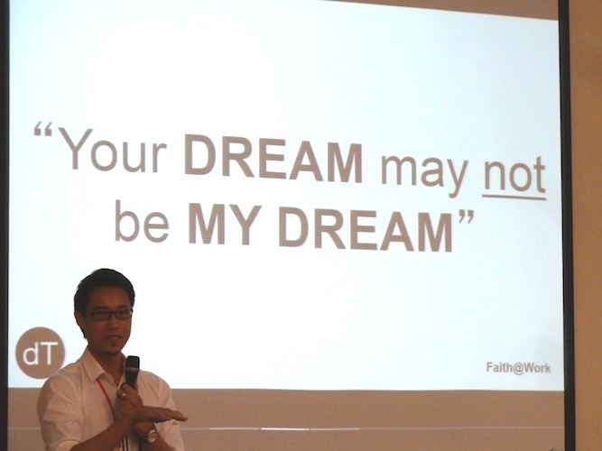 Daryll Tan sharing that the focus of his business should be God